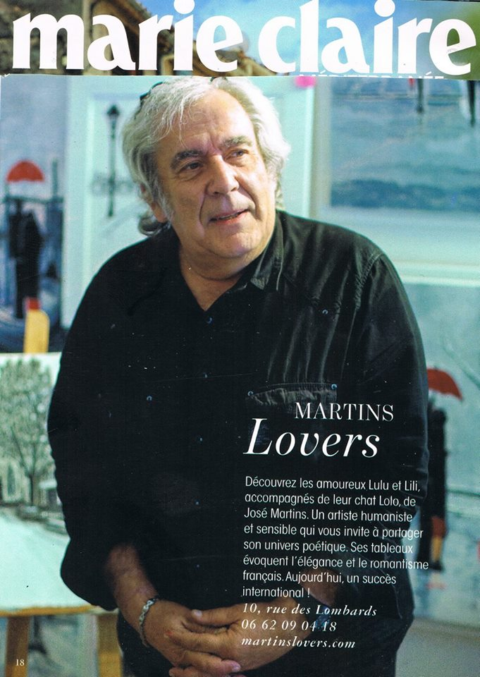 Article Martins Movers dans le magazine Marie Claire