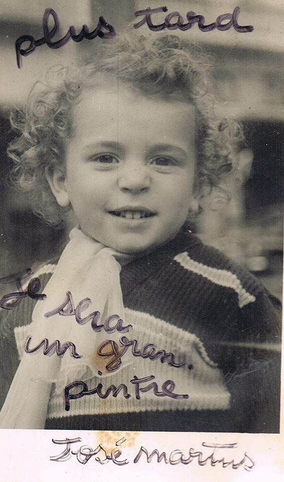 José Martins enfant, photo noir et blanc